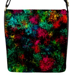 Squiggly Abstract B Flap Messenger Bag (s) by MoreColorsinLife
