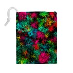 Squiggly Abstract B Drawstring Pouches (Large)  Back