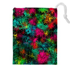 Squiggly Abstract B Drawstring Pouches (xxl) by MoreColorsinLife