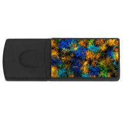 Squiggly Abstract C Rectangular Usb Flash Drive by MoreColorsinLife