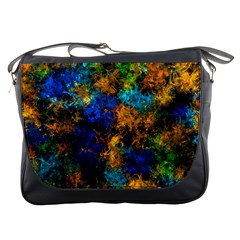 Squiggly Abstract C Messenger Bags by MoreColorsinLife
