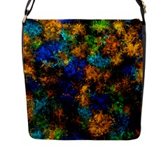 Squiggly Abstract C Flap Messenger Bag (l)  by MoreColorsinLife