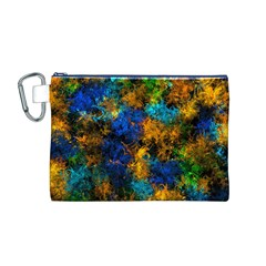 Squiggly Abstract C Canvas Cosmetic Bag (m) by MoreColorsinLife