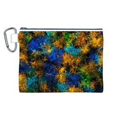 Squiggly Abstract C Canvas Cosmetic Bag (l) by MoreColorsinLife