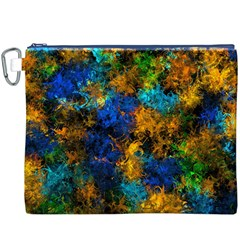 Squiggly Abstract C Canvas Cosmetic Bag (xxxl) by MoreColorsinLife