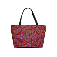 Hearts Can Also Be Flowers Such As Bleeding Hearts Pop Art Shoulder Handbags by pepitasart