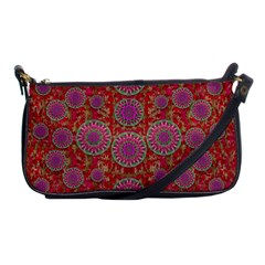 Hearts Can Also Be Flowers Such As Bleeding Hearts Pop Art Shoulder Clutch Bags by pepitasart