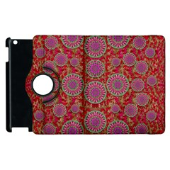 Hearts Can Also Be Flowers Such As Bleeding Hearts Pop Art Apple Ipad 3/4 Flip 360 Case by pepitasart