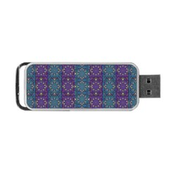 Retro Vintage Bleeding Hearts Pattern Portable Usb Flash (one Side) by pepitasart