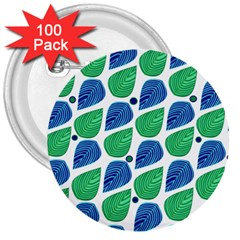 Leaves 3  Buttons (100 Pack)
