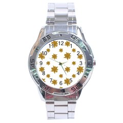 Graphic Nature Motif Pattern Stainless Steel Analogue Watch by dflcprints