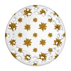 Graphic Nature Motif Pattern Ornament (round Filigree) by dflcprints