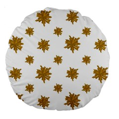 Graphic Nature Motif Pattern Large 18  Premium Round Cushions by dflcprints