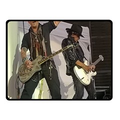 Johnny Depp Hollywood Vampires Double Sided Fleece Blanket (small)  by Photozrus