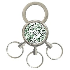 Botanical Leaves 3 Ring Key Chains by allgirls