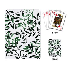 Botanical Leaves Playing Card by allgirls