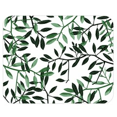 Botanical Leaves Double Sided Flano Blanket (medium)  by allgirls
