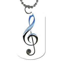 Musical Note  Dog Tag (two Sides) by Photozrus
