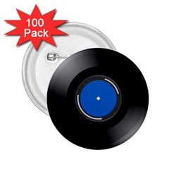 Vinyl Record 2 25  Buttons (100 Pack)  by Photozrus