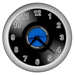 Vinyl Record Wall Clocks (silver)  by Photozrus