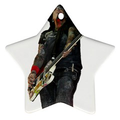 Nikki Sixx Star Ornament (two Sides) by Photozrus