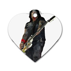 Nikki Sixx Dog Tag Heart (one Side) by Photozrus