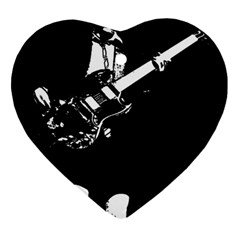 Angus Young  Heart Ornament (two Sides) by Photozrus