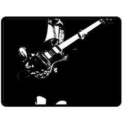 Angus Young  Double Sided Fleece Blanket (large)  by Photozrus