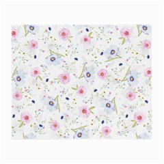 Floral Cute Girly Pattern Small Glasses Cloth (2 Side) by paulaoliveiradesign