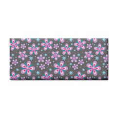 Seamless Pattern Purple Girly Floral Pattern Cosmetic Storage Cases by paulaoliveiradesign
