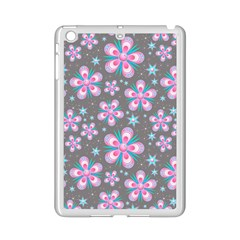 Seamless Pattern Purple Girly Floral Pattern Ipad Mini 2 Enamel Coated Cases by paulaoliveiradesign