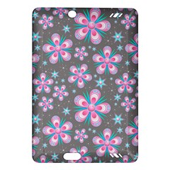 Seamless Pattern Purple Girly Floral Pattern Amazon Kindle Fire Hd (2013) Hardshell Case by paulaoliveiradesign