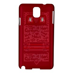 Heart Design Samsung Galaxy Note 3 N9005 Hardshell Case by JuliaWoodmanDesign