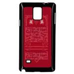 Heart Design Samsung Galaxy Note 4 Case (Black)