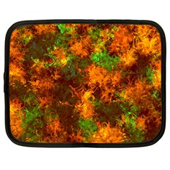 Squiggly Abstract F Netbook Case (large) by MoreColorsinLife