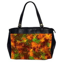 Squiggly Abstract F Office Handbags (2 Sides)  by MoreColorsinLife