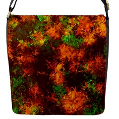 Squiggly Abstract F Flap Messenger Bag (s) by MoreColorsinLife