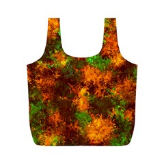 Squiggly Abstract F Full Print Recycle Bags (m)  by MoreColorsinLife