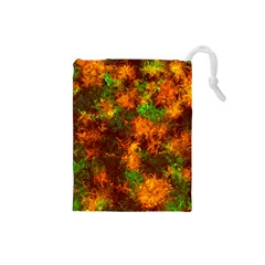 Squiggly Abstract F Drawstring Pouches (small)  by MoreColorsinLife