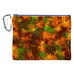 Squiggly Abstract F Canvas Cosmetic Bag (xxl) by MoreColorsinLife