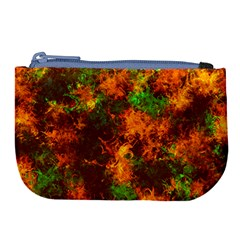 Squiggly Abstract F Large Coin Purse by MoreColorsinLife