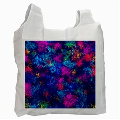 Squiggly Abstract E Recycle Bag (one Side) by MoreColorsinLife
