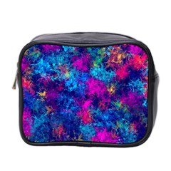 Squiggly Abstract E Mini Toiletries Bag 2 Side by MoreColorsinLife