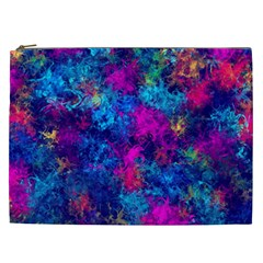 Squiggly Abstract E Cosmetic Bag (xxl)  by MoreColorsinLife