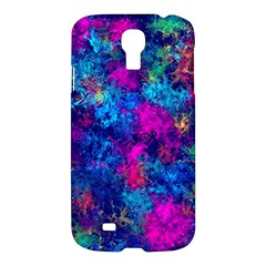 Squiggly Abstract E Samsung Galaxy S4 I9500/i9505 Hardshell Case by MoreColorsinLife
