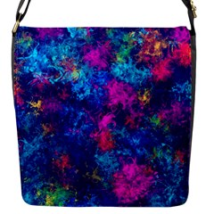 Squiggly Abstract E Flap Messenger Bag (s) by MoreColorsinLife