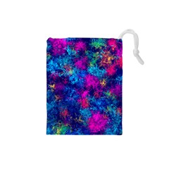 Squiggly Abstract E Drawstring Pouches (small)  by MoreColorsinLife