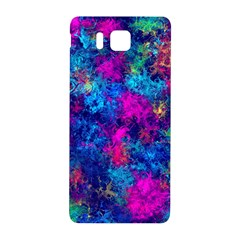 Squiggly Abstract E Samsung Galaxy Alpha Hardshell Back Case by MoreColorsinLife