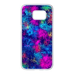 Squiggly Abstract E Samsung Galaxy S7 Edge White Seamless Case by MoreColorsinLife