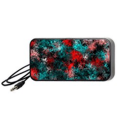 Squiggly Abstract D Portable Speaker (black) by MoreColorsinLife